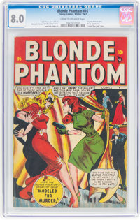 Blonde Phantom #16 (Timely, 1947) CGC VF 8.0 Cream to off-white pages