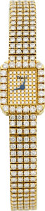Estate Jewelry:Watches, Piaget Lady's Diamond, Gold Tradition Watch. ...