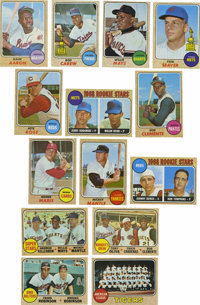1968 Topps Baseball Complete Set (598). With a border that appears to be a burlap fabric, this issue is well known for h...
