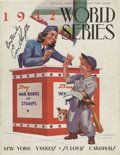 Autographs:Others, 1942 World Series Program Signed by Enos Slaughter. The 1942 Fall Classic saw the St. Louis Cardinals come back from a Game...
