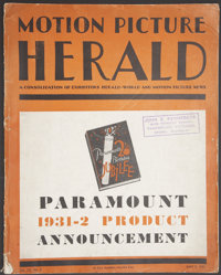 """Paramount Exhibitor's Book--Motion Picture Herald (Paramount, 1931). Exhibitor's Book (11"""" X 14"""") (Multiple Pa..."""