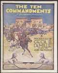 "Movie Posters:Historical Drama, The Ten Commandments (Paramount, 1923). Australian Program (9.25"" X12"") (Multiple Pages). Historical Drama...."
