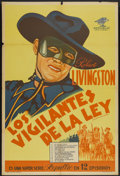 "Movie Posters:Serial, The Vigilantes Are Coming (Republic, 1936). Argentinean Poster (29"" X 43""). Serial...."