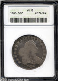 Early Half Dollars: , 1806 50C Pointed 6, Stem VG8 ANACS....