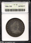 Early Half Dollars: , 1806 50C Pointed 6, Stem Fine 12 ANACS....