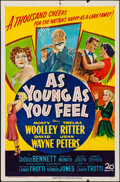 "Movie Posters:Comedy, As Young As You Feel (20th Century Fox, 1951). Folded, Fine+. OneSheet (27"" X 41""). Comedy.. ..."