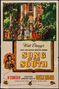 """Song of the South (RKO, 1946). Folded, Fine. One Sheet (27"""" X 41""""). Animation"""