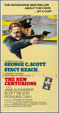 "The New Centurions (Columbia, 1972). Folded, Fine/Very Fine. Three Sheet (41"" X 79"") & One Sheet (27""..."
