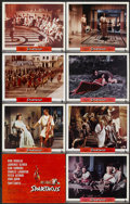 "Movie Posters:Adventure, Spartacus (Universal International, 1960). Road Show Title LobbyCard and Lobby Cards (7) (11"" X 14""). Adventure.... (Total: 8Items)"
