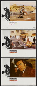 "Movie Posters:Action, Magnum Force (Warner Brothers, 1973). Lobby Cards (3) (11"" X 14"").Action.... (Total: 3 Items)"