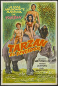 "Movie Posters:Adventure, Tarzan Triumphs (RKO, 1943). Argentinean Poster (29"" X 43"").Adventure...."