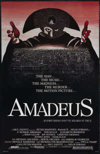 "Amadeus (Orion, 1984). One Sheet (25.75"" X 40""). Drama"