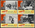 "Movie Posters:Action, Angels Die Hard (New World, 1970). Lobby Cards (4) (11"" X 14"").Action.... (Total: 4 Items)"