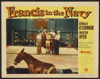 """Francis in the Navy (Universal, 1955). Lobby Card (11"""" X 14""""). Comedy"""