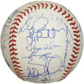Autographs:Baseballs, 1997 Florida Marlins Team Signed World Series Baseball. The 1997edition of the Florida Marlins won the World Series, defea...