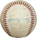 Autographs:Baseballs, 1946 Boston Red Sox Reunion Signed Baseball. The 1946 Boston RedSox won the American League Pennant and faced the St. Loui...