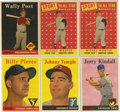 Baseball Cards:Lots, 1958 Topps Baseball Group Lot of 79. Nice collection of 1958 Toppsbaseball cards. Grades 20% NM, 75% EX to EX/MT, 5% lesse...