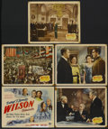 """Movie Posters:Drama, Wilson (20th Century Fox, 1944). Title Card and Lobby Cards (4) (11"""" X 14""""). Drama.... (Total: 5 Items)"""