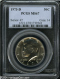 Kennedy Half Dollars: , 1973-D 50C MS67 PCGS....