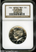Proof Kennedy Half Dollars: , 1964 50C Accented Hair PR68 Cameo NGC....