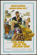 "Movie Posters:James Bond, The Man With the Golden Gun (United Artists, 1974). One Sheet (27""X 41"") Tri-Folded. James Bond...."
