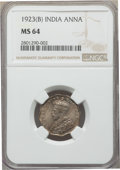 India:British India, India: British India. George V 3-Piece Lot of Certified Annas NGC,... (Total: 3 coins)