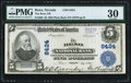 National Bank Notes:Nevada, Reno, NV - $5 1902 Plain Back Fr. 606 The Reno NB Ch. # 8424 PMG Very Fine 30.. ...