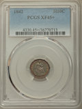 Seated Half Dimes: , 1842 H10C XF45+ PCGS. PCGS Population: (22/181 and 1/5+). NGC Census: (6/171 and 0/1+). XF45. Mintage 815,000. ...