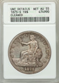 Trade Dollars, 1873-S T$1 -- Cleaned -- ANACS. Unc Details, Net AU55. NGC Census: (8/82). PCGS Population: (22/140). CDN: $800 Whsle. Bid ...