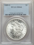 Morgan Dollars: , 1889-S $1 MS64 PCGS. PCGS Population: (2383/834). NGC Census: (1354/272). CDN: $450 Whsle. Bid for problem-free NGC/PCGS MS...