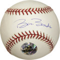 Autographs:Baseballs, Barry Bonds Single Signed Baseball. The OML (Selig) baseball issigned squarely on the sweet spot by baseball's home run ki...