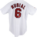 Autographs:Jerseys, Stan Musial Signed Jersey. Stan the Man Musial lived his life asone of the most beloved members of the St. Louis Cardinals...