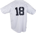 "Autographs:Jerseys, Don Larsen Signed ""PG 10-8-56"" Jersey. Pristine pinstriped New YorkYankees jersey that we provide here has been signed by ..."