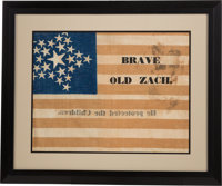 Zachary Taylor: Only Known Example Campaign Banner for the 1848 Whig Candidate and 12th President