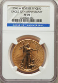 Modern Bullion Coins, Three-Piece 2006-W One-Ounce Gold Eagle 20th Anniversary Set NGC. The lot includes: Uncirculated finish MS70; regular proo... (Total: 3 coins)