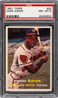 Baseball Cards:Singles (1950-1959), 1957 Topps Hank Aaron #20 PSA NM-MT 8....