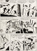 Original Comic Art, Sheldon Moldoff Gunfighter n°5 « Moon Girl Meets the Hangman » Original de la page 6 (EC, 1948)....