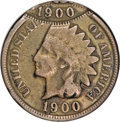 Errors, 1900 1C Indian Cent--Double Struck, Second Strike 80% Off Center--Good 6 NGC. ...