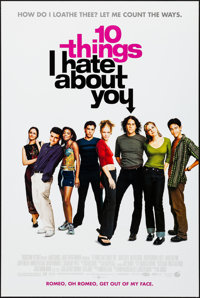 """10 Things I Hate About You & Other Lot (Buena Vista, 1999). Rolled, Very Fine+. One Sheets (3) (27"""" X 40&qu..."""