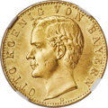 German States:Bavaria, German States: Bavaria. Otto gold 10 Mark 1888-D MS67 NGC,...