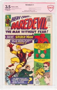 Daredevil #1 Verified Signature Series (Marvel, 1964) CBCS VG- 3.5 Off-white to white pages