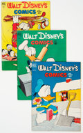 Silver Age (1956-1969):Cartoon Character, Walt Disney's Comics and Stories Box Lot (Dell/Gold Key, 1949-62)Condition: Average FN....