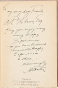 Autographs:Celebrities, B.C. Forbes Signed Copy of 101 Unusual Experiences,...