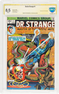 Doctor Strange #1 Authentic Signature (Marvel, 1974) CBCS VF+ 8.5 White pages