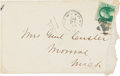 Autographs:Military Figures, George Custer Autograph Envelope....