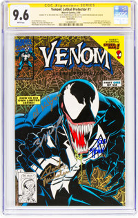 Venom: Lethal Protector #1 (Gold Variant) Signature Series (Marvel, 1993) CBCS NM+ 9.6 White pages