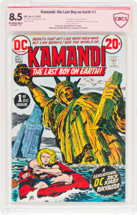 Kamandi, the Last Boy on Earth #1 Jack Kirby Verified Signature (DC, 1972) CBCS VF+ 8.5 Off-white to white pages
