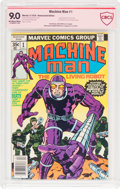 Bronze Age (1970-1979):Science Fiction, Machine Man #1 Jack Kirby Verified Signature (Marvel, 1978) CBCS VF/NM 9.0 Off-white to white pages....