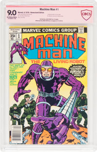 Machine Man #1 Jack Kirby Verified Signature (Marvel, 1978) CBCS VF/NM 9.0 Off-white to white pages