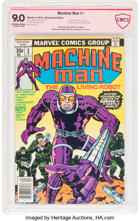 Machine Man #1 Jack Kirby Verified Signature (Marvel, 1978) CBCS VF/NM 9.0 Off-white to white pages....